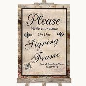 Vintage Wedding Sign Collection Vintage Signing Frame Guestbook Wedding Sign