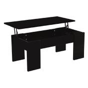 Coffee Table Liftable Black