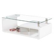 Coffee Table High Gloss Rectangle White