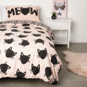 Cat Duvet Cover Set Single
