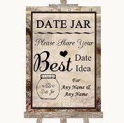 Vintage Wedding Sign Collection Vintage Date Jar Guestbook Wedding Sign