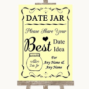 Yellow Wedding Sign Collection Yellow Date Jar Guestbook Wedding Sign