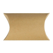 Sunsline Kraft Paper Pillow Candy Boxes for Wedding Party Gifts