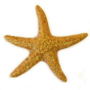 4 starfishes in spangled resins 4.5 cms, theme sea, marine theme.