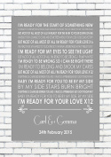 READY FOR YOUR LOVE GORGON CITY & MNEK - Wedding Anniversary Engagement Personalised First Dance Reading A4 (21cm x 29.7cm) Unframed Print