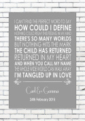 TANGLED UP IN LOVE – THE RIFLES - Wedding Anniversary Engagement Personalised First Dance Reading A4 (21cm x 29.7cm) Unframed Print