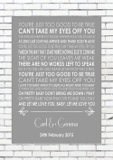 CAN'T TAKE MY EYES OFF YOU - ANDY WILLIAMS - Wedding Anniversary Engagement Personalised First Dance Reading A4 (21cm x 29.7cm) Unframed Print