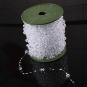60M/ Roll Clear Pearl String Party Garland Wedding Centrepieces Bridal Bouquet Crafts Decoration