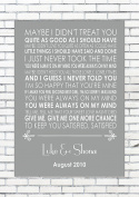 ALWAYS ON MY MIND - MICHAEL BUBLÉ - Wedding Anniversary Engagement Personalised First Dance Reading A4 (21cm x 29.7cm) Unframed Print