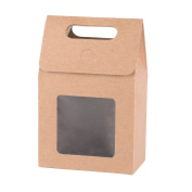 Kraft Paper Candy Box For Wedding Party Favour 9.7*5.7*14.8cm
