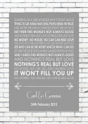 NOTHING'S REAL BUT LOVE - REBECCA FERGUSON - Wedding Anniversary Engagement Personalised First Dance Reading A4 (21cm x 29.7cm) Unframed Print