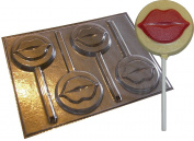 Kissing Lips Round Chocolate Lollipop Lolly Mould Mould