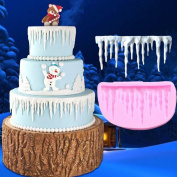 timeracing 3D Icicles Silicone Cake Fondant Mould Kitchen DIY Baking Decorating Mould Tool Cookie Cutters
