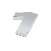 sourcingmap Silver Tone Metal 1 Digital Shaped Car Exterior Emblem Badge 3D Sticker Decor
