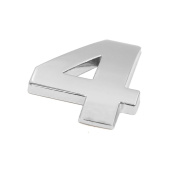 sourcingmap Silver Tone Metal 4 Digital Shaped Car Exterior Emblem Badge 3D Sticker Decor