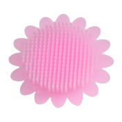 BESTOMZ Bath Brush Silicone Massage Brush with Handle Infant Hair Body Shower Scrubber