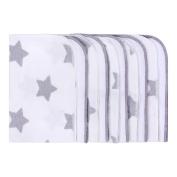 Lulando M00014142 Baby Washcloths Towels 25 x 25 cm, White