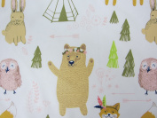Woodland Whimsy 100% Polyester (FLAT SHEET ONLY) Size TODDLER Boys Girls Kids Bedding