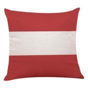 Pillow Cases,Lavany Love Pillow Covers Red Geometric Printed Pillowcases Throw Cushion Home Sofa Car Decorative