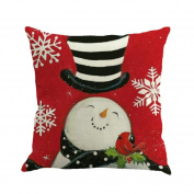Inverlee Christmas Printing Dyeing Sofa Bed Home Decor Pillow Cover Cushion Cover