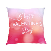 Inverlee Valentine's Day Print Pillow Cases Polyester Sofa Car Cushion Cover Home Decor