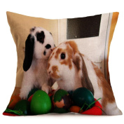 Pillow Cases,Lavany Easter Pillow Covers Animal With Words Printed Pillowcases Cushion Sofa Home Decorative