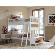 NE Kids East End 5 Drawer Chest in White and Taupe