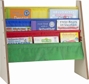 4 pockets book shelf and magazine rack - Toddler-sized book rack for Kids and book organiser for adults