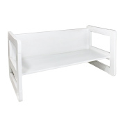 3 in 1 Childrens Furniture One Small Multifunctional Bench or Table Beech Wood, White Stained