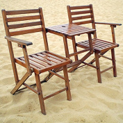A & B Home KGF38466 Folding Attached Chairs and Table