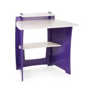Legare Kids Desk with Shelf 90cm , Purple and White