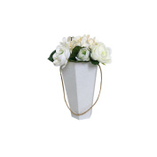 6pcs/lot , Valentine's Day Mother's Day gift box hexagonal handle flosristflower box, ice cream flower barrel wedding party decoration favours paper box,NOT INCLUDE ANY FLOWER ,ONLY SELL BOX