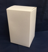 25 Foldable Boxes for Wedding Favours White 8 x 8 x 13 cm
