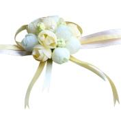 Wrist Flower Ribbon Wedding Bridal Wrist Simulation Floral Roses Decor Prom Party Accessories