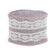 Demiawaking Jute Burlap Lace Ribbon Linen Roll Handmade Gift Wedding Decoration