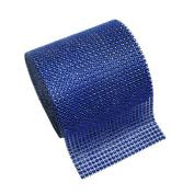 BESTOMZ Rhinestone Ribbon Mesh Roll for Wedding Birthday Party Arts and Crafts Projects 1 Yard x 12cm
