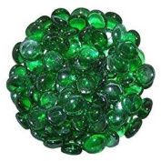STONED® 250 Grammes Round Green Decorative Glass Pebbles / Stones / Beads / Nuggets 17 -20 mm