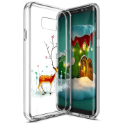 Case Cover Samsung Galaxy S8 Plus Silicone Soft, ukayfe HD Ultra Slim Luxury Of Crystal Colourful Paint Design for Samsung Galaxy S8 Plus Crystal Clear Flexible TPU Gel Transparent Case Protective Skin Housing Rear Shell of the bumper Backcover Protect ..