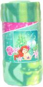 """Disney Princess """"Ariel's Garden"""" Character Fleece Blanket, 130cm x 150cm"""