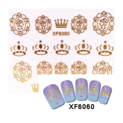 Nail Stickers, MML DIY Nial Stamping Kit Decals NEW HOT Tools Flower Decoration Nail Art