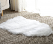Area Rug, Fuzzy Soft Sheepskin Kids Carpet Chair Cover with Super Fluffy Thick Decorativeas Throw Faux Rug in Bedroom, Living Room