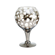 Mikasa 5194636 Leopard Nickle Glass Goblet Candle Holder, 20cm -by-30cm