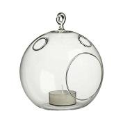 WGV Round Hanging Votive Candle Holder/Glass Orb Terrarium Vase