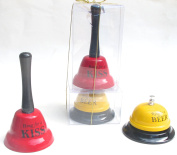 Valentine's Dat Gift, Red kiss bell and yellow wine bell