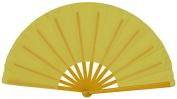 Just Artefacts Folding Silk Hand Fan 33cm Yellow