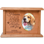 Cremation Urns for Pets SMALL Memorial Keepsake box for Dogs and Cats, personalised Urn for pet ashes Heaven sent my own ANGEL TO LOVE SMALL portion of ashes holds 2x3 photo