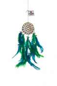 Rooh Dream Catcher - Wooden Earth ~ Handmade Hangings for Positivity (Used as Home Décor Accents, Wall Hangings, Garden, Car, Outdoor, Bedroom, Key chain, Meditation Room, Windchime)