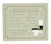 Quirky Toilet Rules Bathroom Wall Plaque By Haysom Interiors