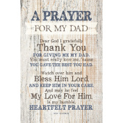 Prayer For My Dad…New Horizons Wood Plaque with Easel