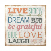 "Stratton Home Decor SPC 2520cm Love Simply"" Typography Burlap Wall Art"